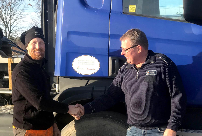 Menhammar-lastbil gör samhällsnytta hos sjöräddningen